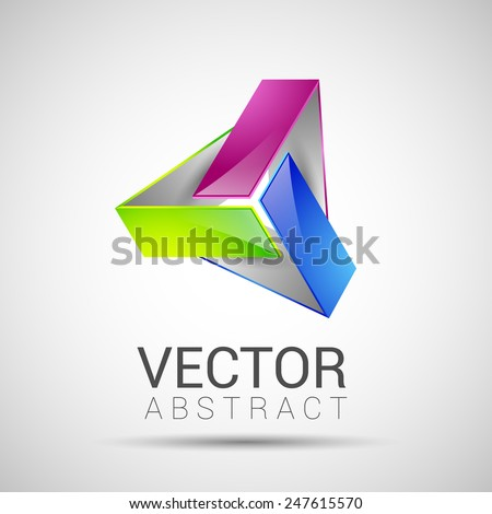 abstract element shape vector