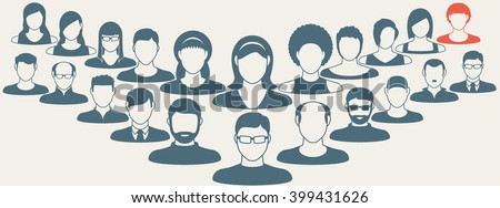 Abstract Elements.Social icons.People icon.People Flat icons collection.User Icons and People Icons with Background.Choosing the talented person for hiring