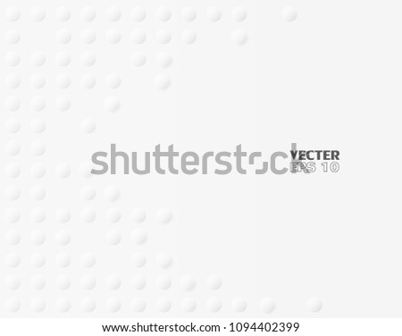 Abstract. Embossed Circle, paper white Background ,light and shadow ,Vector #1094402399