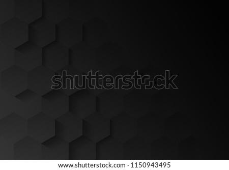 abstract embossed hexagon