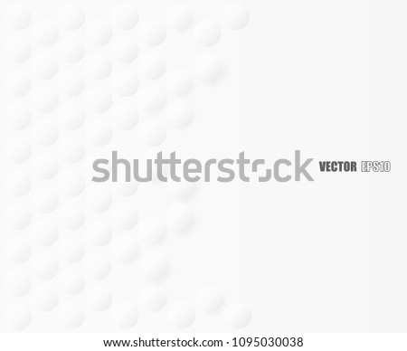 Abstract. Embossed paper circle white Background ,light and shadow ,Vector #1095030038