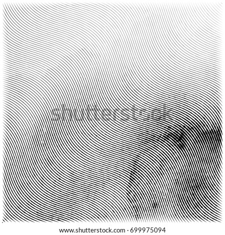 Abstract engraving grunge texture. Wavy etching watercolor background. Vector illustration Stock photo ©