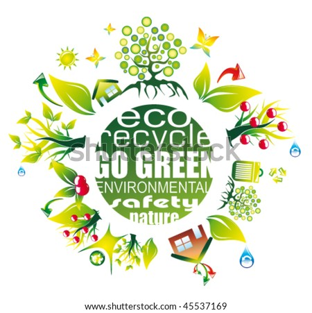 Abstract Environment and Eco Background for Green Flyers
