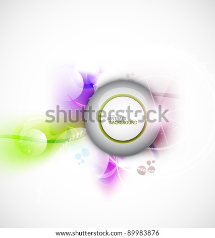 Abstract eps10 vector colorful background. Colorful glowing and sphere with space for your text