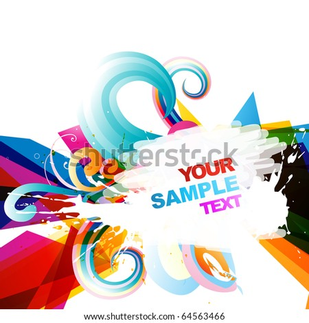 abstract eps10 vector colorful design