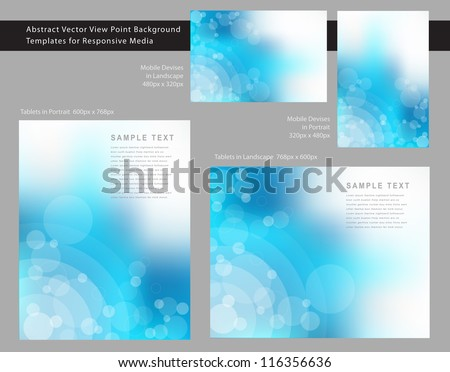 Abstract EPS 10 Vector View Point Background Templates for Responsive Media.
