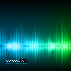 Abstract equalizer background. Blue-Green wave.
