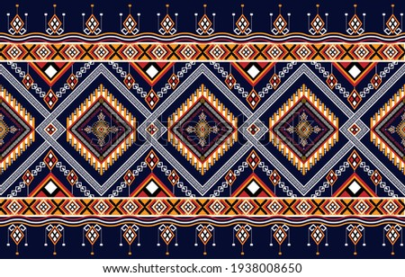 Abstract ethnic geometric pattern,print,border,tradition,ethnic oriental floral seamless pattern,illustration,Gemetric ethnic oriental ikat pattern traditiona