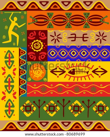 Abstract ethnic patterns and ornaments for design. Jpeg version also available in gallery