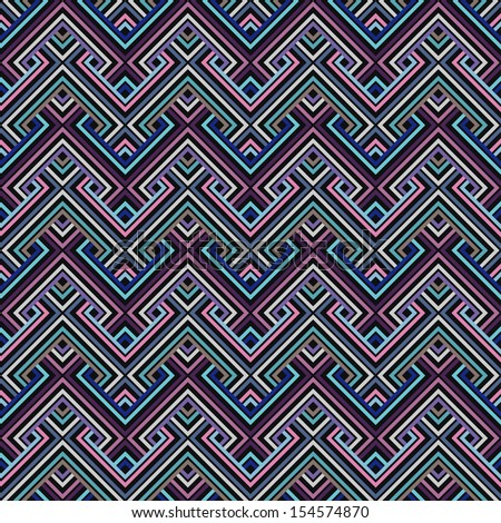 Abstract Ethnic Seamless Geometric Pattern. Vector Illustration