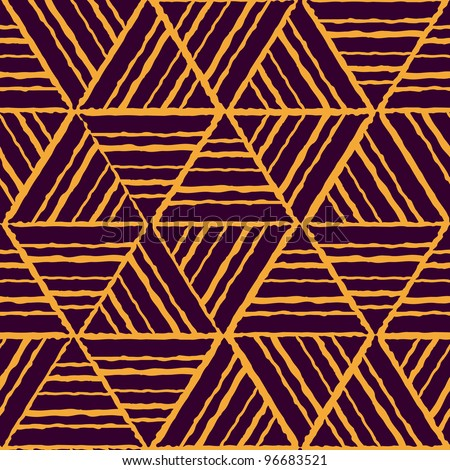 abstract ethnic seamless yellow geometric pattern. Colorful vector illustration