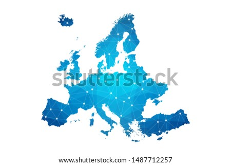 abstract europe map geometric