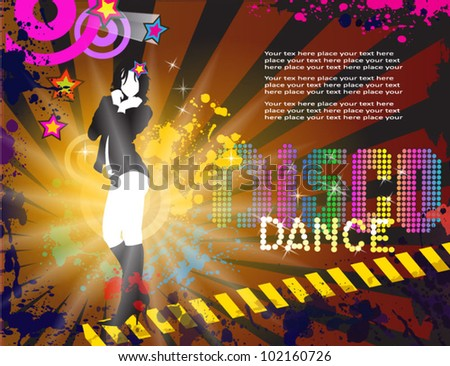 Abstract Exotic Dancer Disco Music Background for Event Flyers vector