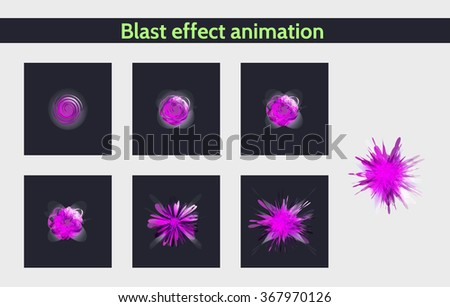 abstract explode effect