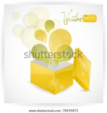 Abstract exploding gift box , vector EPS10.