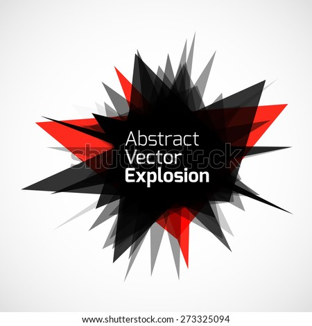 abstract explosion banner