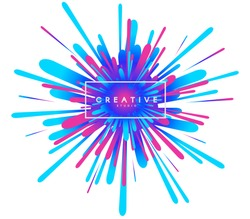 Abstract explosion colorful background.  Vector EPS10.