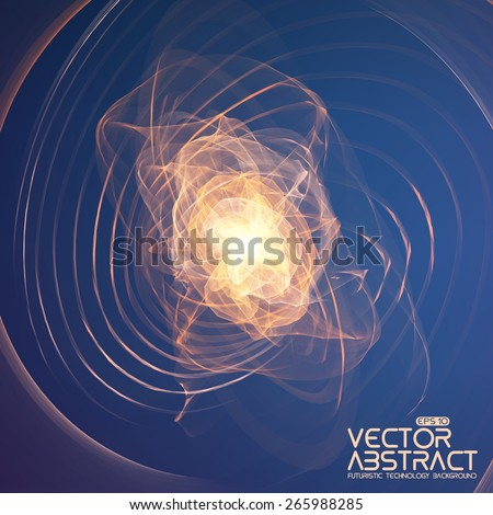 abstract explosion vector mesh