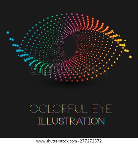 abstract eye illustration with