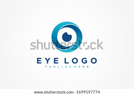 abstract eye logo letter s