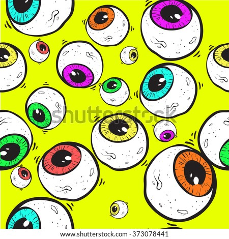 abstract eye seamless pattern