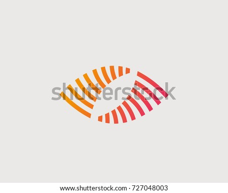 abstract eye vector logo design