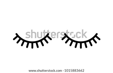 Abstract Eyes Closed with Lashes