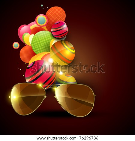 abstract faishon sunglasses on artistic background