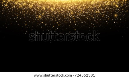abstract falling golden lights