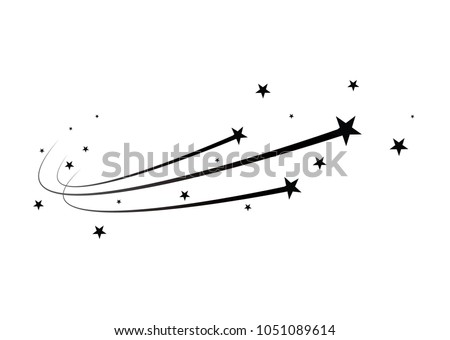abstract falling star   black