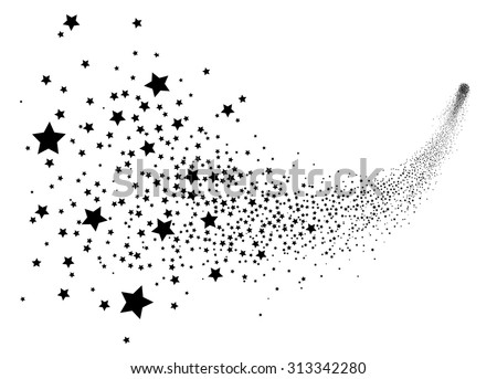abstract falling star vector