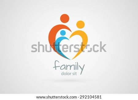 Abstract family icon. Together symbol. Vector logo