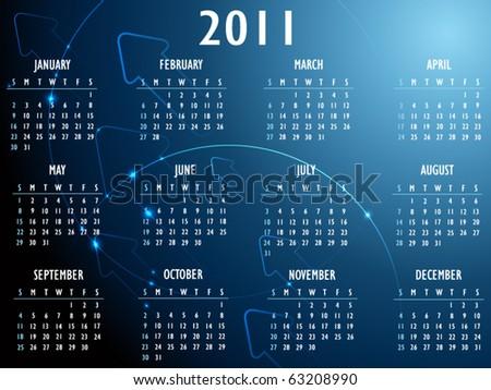 Abstract fantasy 2011 Calendar