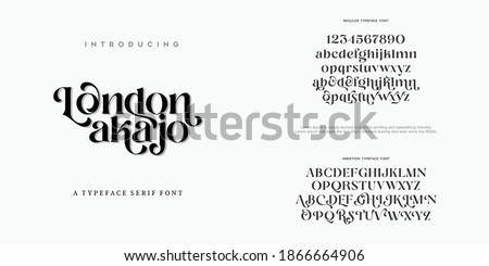 Abstract Fashion font alphabet. Minimal modern urban fonts for logo, brand etc. Typography typeface uppercase lowercase and number. vector illustration