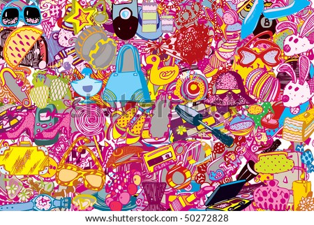 Abstract Fashion Party Background (vector)