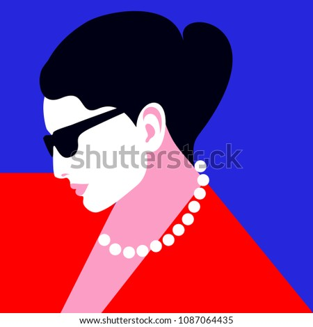 abstract female portrait in