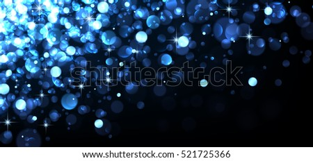 abstract festive blue luminous