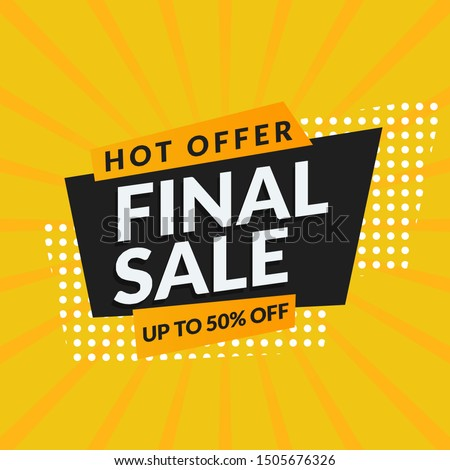 abstract final sale promotion banner template vector