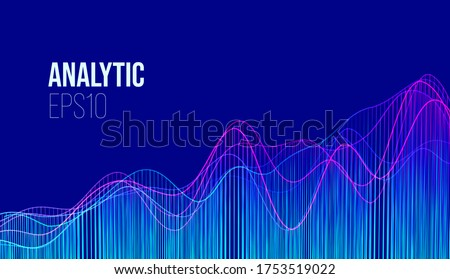 Abstract finance analytic background. Business research. Financial technology. Vector Financial chart.Data analytic chart