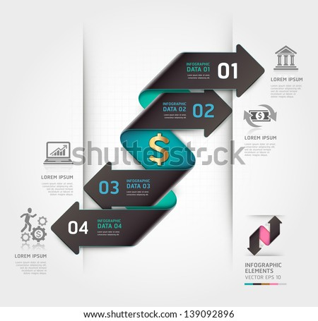 Abstract finance arrow infographics template. Vector illustration. can be used for workflow layout, diagram, number options, business step options, banner, web design