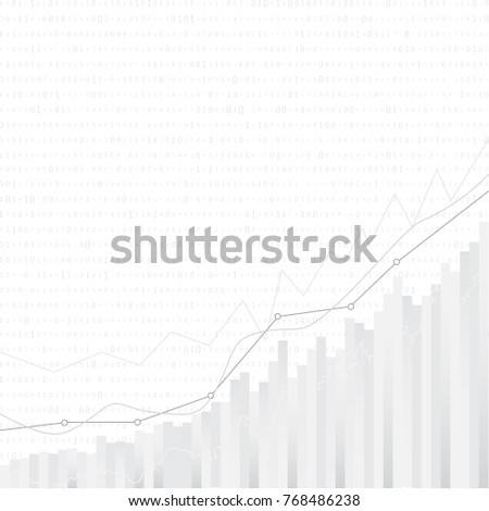 abstract financial chart with uptrend line graph in stock market on white background vector design