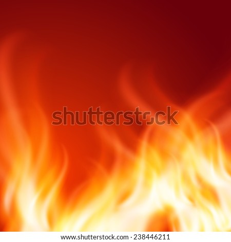 Abstract fire background. EPS10 vector.