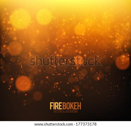 abstract fire bokeh vector