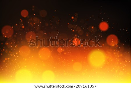abstract fire bokeh vector
