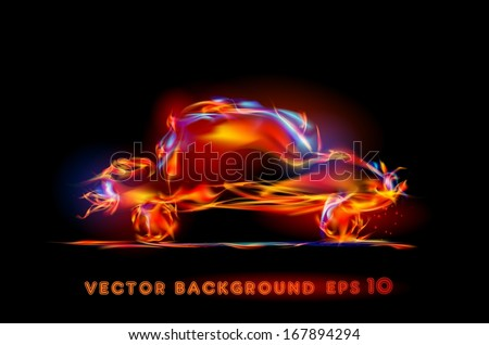 abstract fire car background