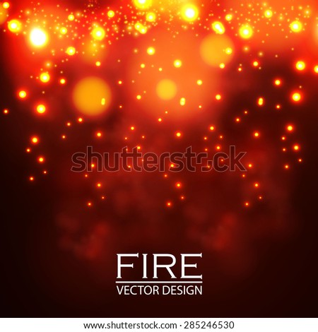 abstract fire elements bokeh