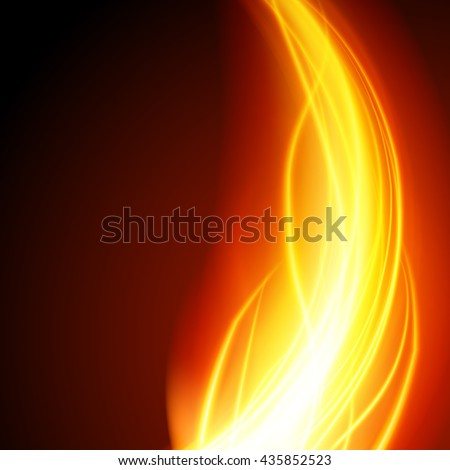 abstract fire flame light on