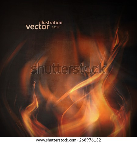 abstract fire flames on a black