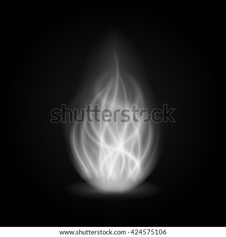 abstract fire smoke light on