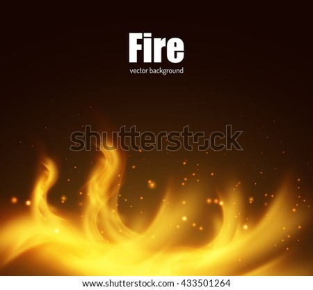 Abstract fire vector background. Vector eps10.